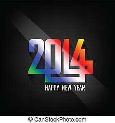 happy new year 2014 background,vector illustration