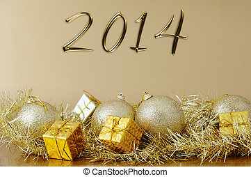 happy new year 2014 - Christmas decoration - happy new year...
