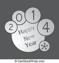 Happy New Year 2014 circle background