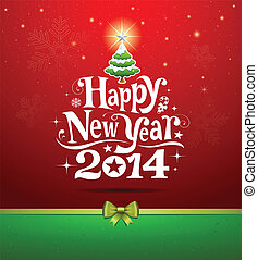 Happy New Year 2014 - Happy New Year lettering Greeting...