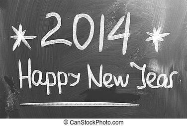Happy New Year 2014 Concept
