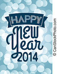 Happy New Year 2014 for a nice greeting card