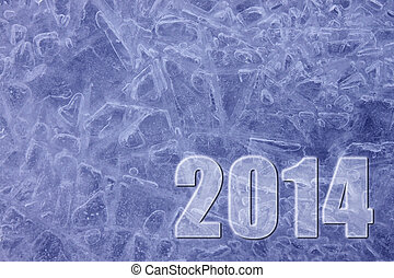 New Year 2014 ice background
