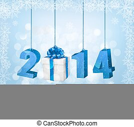 Happy new year 2014! New year design template. Vector illustration
