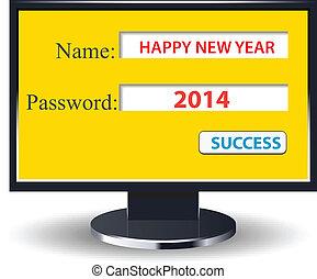 happy new year 2014 retro