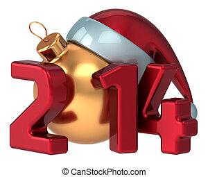 Happy New Year 2014 Santa hat