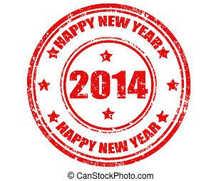 Happy New Year 2014-stamp