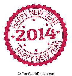 Happy new year 2014 stamp