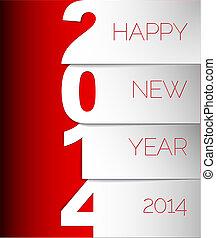 Happy New Year 2014 vector card