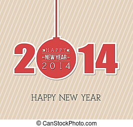 happy new year 2014 over lineal background vector...
