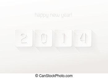 Happy New Year 2014 vector illustration.