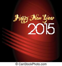 Happy new year 2015 abstract