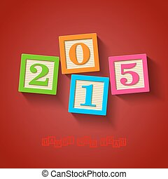 Happy New Year 2015 card