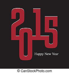 Happy New Year 2015 Card. Vector illustration