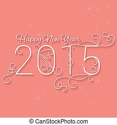 Happy New Year 2015. Christmas Background.