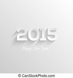 Happy new year 2015 creative greeting card design....