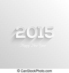 Happy new year 2015 creative greeting card design. ...