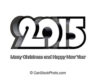 Happy New Year 2015 design card, vector