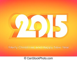 Happy New Year 2015 design card, vector