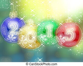 Happy New Year 2015 glowing background
