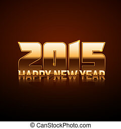 Happy New Year 2015 - gold style - in vector