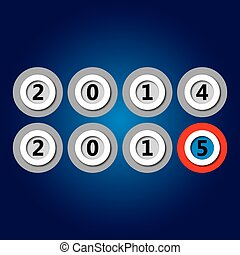 happy new year 2015 - in plastic circles