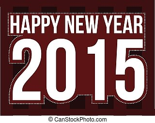 Happy new year 2015, vector