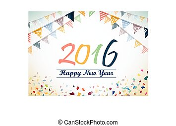 Happy New Year 2015 vector design - Happy New Year 2016...