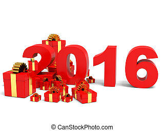 Happy new year 2016 and gifts.