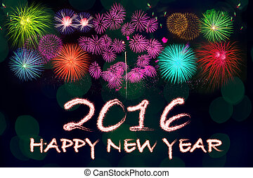 happy new year 2016 background.