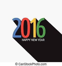 Happy New Year 2016 Card. Vector illustration