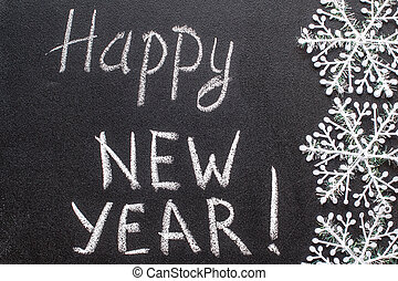 Happy New Year 2016 chalk text on blackboard
