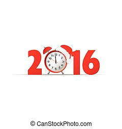 happy new year 2016 clock vector