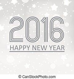happy new year, 2016, dále, grayscale, zlatý hřeb, grafické pozadí, eps10