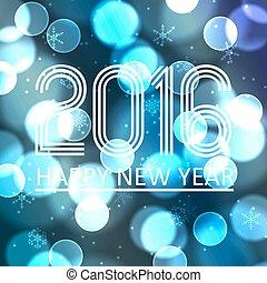 happy new year, 2016, dále, konzervativní, bokeh, kruh, grafické pozadí, eps10