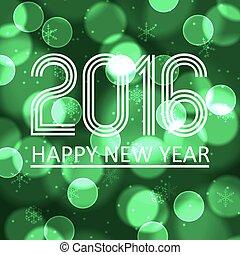 happy new year, 2016, dále, nezkušený, bokeh, kruh, grafické pozadí, eps10