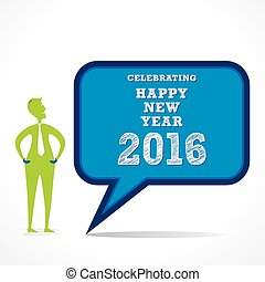 happy new year 2016 design