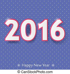 happy new year 2016 design.