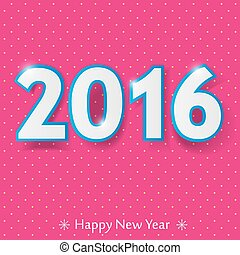 happy new year 2016 design.