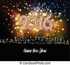happy new year 2016 night