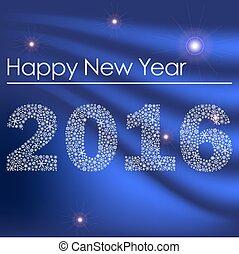 happy new year, 2016, od, maličký, sněhové vločky, oplzlý grafické pozadí, eps10