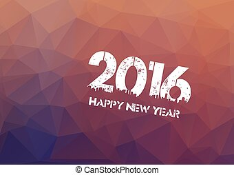 happy new year 2016 on triangle