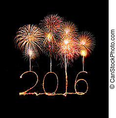 Happy new year 2016 (Sparkle firework) - Happy new year 2016...