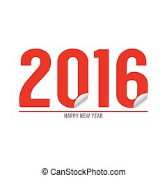 Happy New Year 2016 Typography Design Vector Illustration
