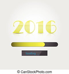 Happy New Year 2016.Colorful greeting card design. Vector illustration for holiday design.