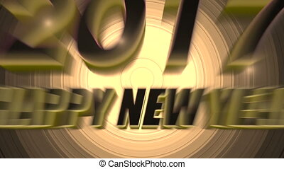 Happy New Year 2017 - 3D Yellow Text