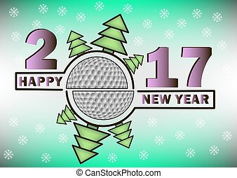 Happy new year 2017 and  golf