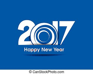 happy new year 2017 background vector illustration