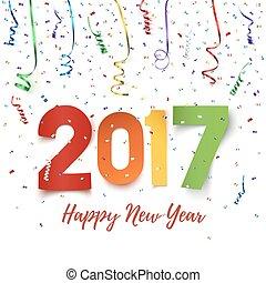 Happy New Year 2017 celebration background.