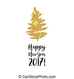 Happy New Year 2017 celebration card design